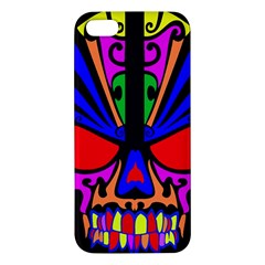 Skull In Colour Iphone 5s Premium Hardshell Case by icarusismartdesigns