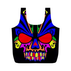 Skull In Colour Reusable Bag (m) by icarusismartdesigns