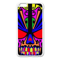 Skull In Colour Apple Iphone 6 Plus Enamel White Case