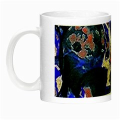 Decorative Retro Floral Print Glow In The Dark Mug by dflcprints