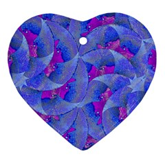 Abstract Deco Digital Art Pattern Heart Ornament by dflcprints