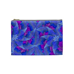 Abstract Deco Digital Art Pattern Cosmetic Bag (medium)