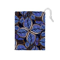 Fantasy Nature Pattern Print Drawstring Pouch (medium)