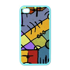 Multicolored Tribal Pattern Print Apple Iphone 4 Case (color)