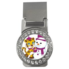 Winter Time Zoo Friends   004 Money Clip (cz) by Colorfulart23