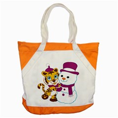 Winter Time Zoo Friends   004 Accent Tote Bag by Colorfulart23