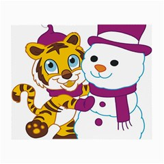 Winter Time Zoo Friends   004 Glasses Cloth (small, Two Sided) by Colorfulart23