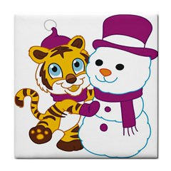 Winter Time Zoo Friends   004 Face Towel by Colorfulart23
