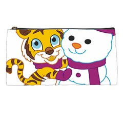 Winter Time Zoo Friends   004 Pencil Case