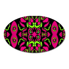 Psychedelic Retro Ornament Print Magnet (oval) by dflcprints