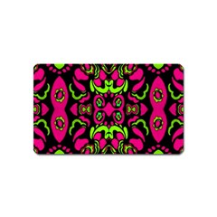 Psychedelic Retro Ornament Print Magnet (name Card)
