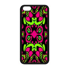 Psychedelic Retro Ornament Print Apple Iphone 5c Seamless Case (black) by dflcprints