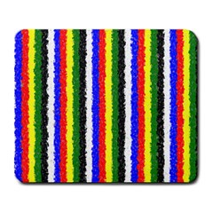 Basic Colors Curly Stripes Large Mouse Pad (rectangle) by BestCustomGiftsForYou