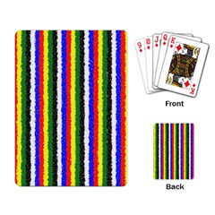 Basic Colors Curly Stripes Playing Cards Single Design by BestCustomGiftsForYou