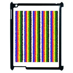 Basic Colors Curly Stripes Apple Ipad 2 Case (black) by BestCustomGiftsForYou