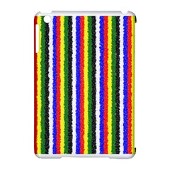 Basic Colors Curly Stripes Apple Ipad Mini Hardshell Case (compatible With Smart Cover) by BestCustomGiftsForYou