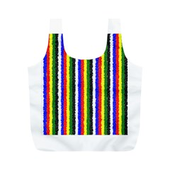 Basic Colors Curly Stripes Reusable Bag (m) by BestCustomGiftsForYou