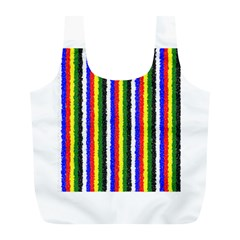 Basic Colors Curly Stripes Reusable Bag (l) by BestCustomGiftsForYou