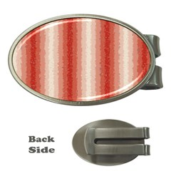 Red Curly Stripes Money Clip (oval) by BestCustomGiftsForYou