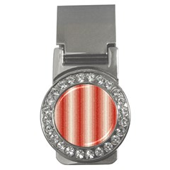 Red Curly Stripes Money Clip (cz) by BestCustomGiftsForYou