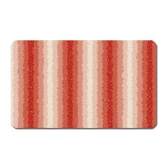 Red Curly Stripes Magnet (rectangular) by BestCustomGiftsForYou