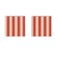Red Curly Stripes Cufflinks (square) by BestCustomGiftsForYou