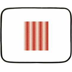 Red Curly Stripes Mini Fleece Blanket (two Sided) by BestCustomGiftsForYou