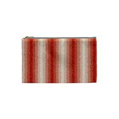 Red Curly Stripes Cosmetic Bag (small) by BestCustomGiftsForYou