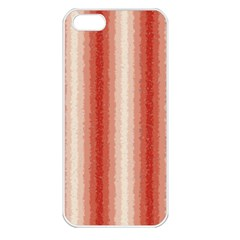 Red Curly Stripes Apple Iphone 5 Seamless Case (white) by BestCustomGiftsForYou