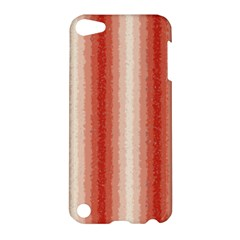 Red Curly Stripes Apple Ipod Touch 5 Hardshell Case by BestCustomGiftsForYou