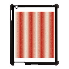 Red Curly Stripes Apple Ipad 3/4 Case (black) by BestCustomGiftsForYou