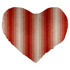 Red Curly Stripes 19  Premium Heart Shape Cushion by BestCustomGiftsForYou