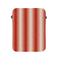 Red Curly Stripes Apple Ipad Protective Sleeve by BestCustomGiftsForYou