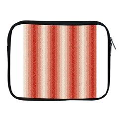 Red Curly Stripes Apple Ipad Zippered Sleeve by BestCustomGiftsForYou