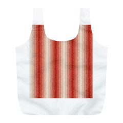 Red Curly Stripes Reusable Bag (l) by BestCustomGiftsForYou