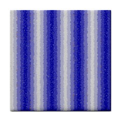 Dark Blue Curly Stripes Ceramic Tile by BestCustomGiftsForYou