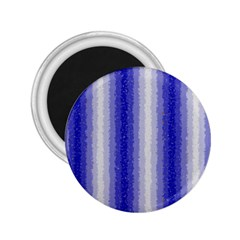 Dark Blue Curly Stripes 2 25  Button Magnet by BestCustomGiftsForYou