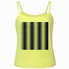 Dark Blue Curly Stripes Yellow Spaghetti Tank by BestCustomGiftsForYou