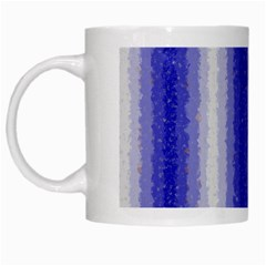 Dark Blue Curly Stripes White Coffee Mug by BestCustomGiftsForYou