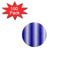 Dark Blue Curly Stripes 1  Mini Button Magnet (100 Pack) by BestCustomGiftsForYou