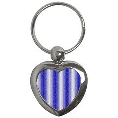 Dark Blue Curly Stripes Key Chain (heart) by BestCustomGiftsForYou