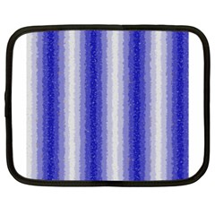 Dark Blue Curly Stripes Netbook Sleeve (xl) by BestCustomGiftsForYou