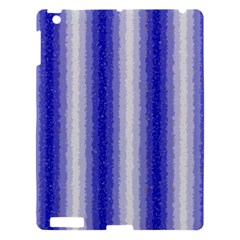 Dark Blue Curly Stripes Apple Ipad 3/4 Hardshell Case by BestCustomGiftsForYou