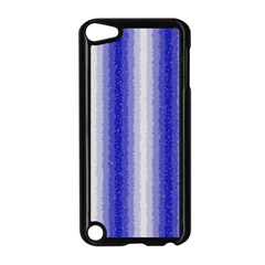Dark Blue Curly Stripes Apple Ipod Touch 5 Case (black) by BestCustomGiftsForYou
