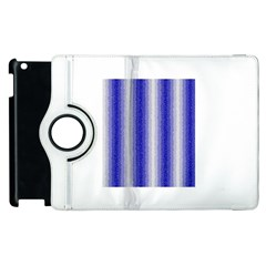 Dark Blue Curly Stripes Apple Ipad 3/4 Flip 360 Case by BestCustomGiftsForYou