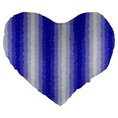 Dark Blue Curly Stripes 19  Premium Heart Shape Cushion by BestCustomGiftsForYou