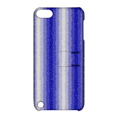 Dark Blue Curly Stripes Apple Ipod Touch 5 Hardshell Case With Stand by BestCustomGiftsForYou