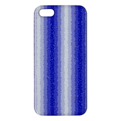Dark Blue Curly Stripes Apple Iphone 5 Premium Hardshell Case by BestCustomGiftsForYou