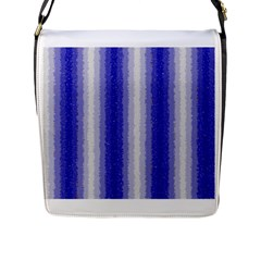 Dark Blue Curly Stripes Flap Closure Messenger Bag (large) by BestCustomGiftsForYou