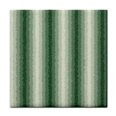 Dark Green Curly Stripes Ceramic Tile by BestCustomGiftsForYou